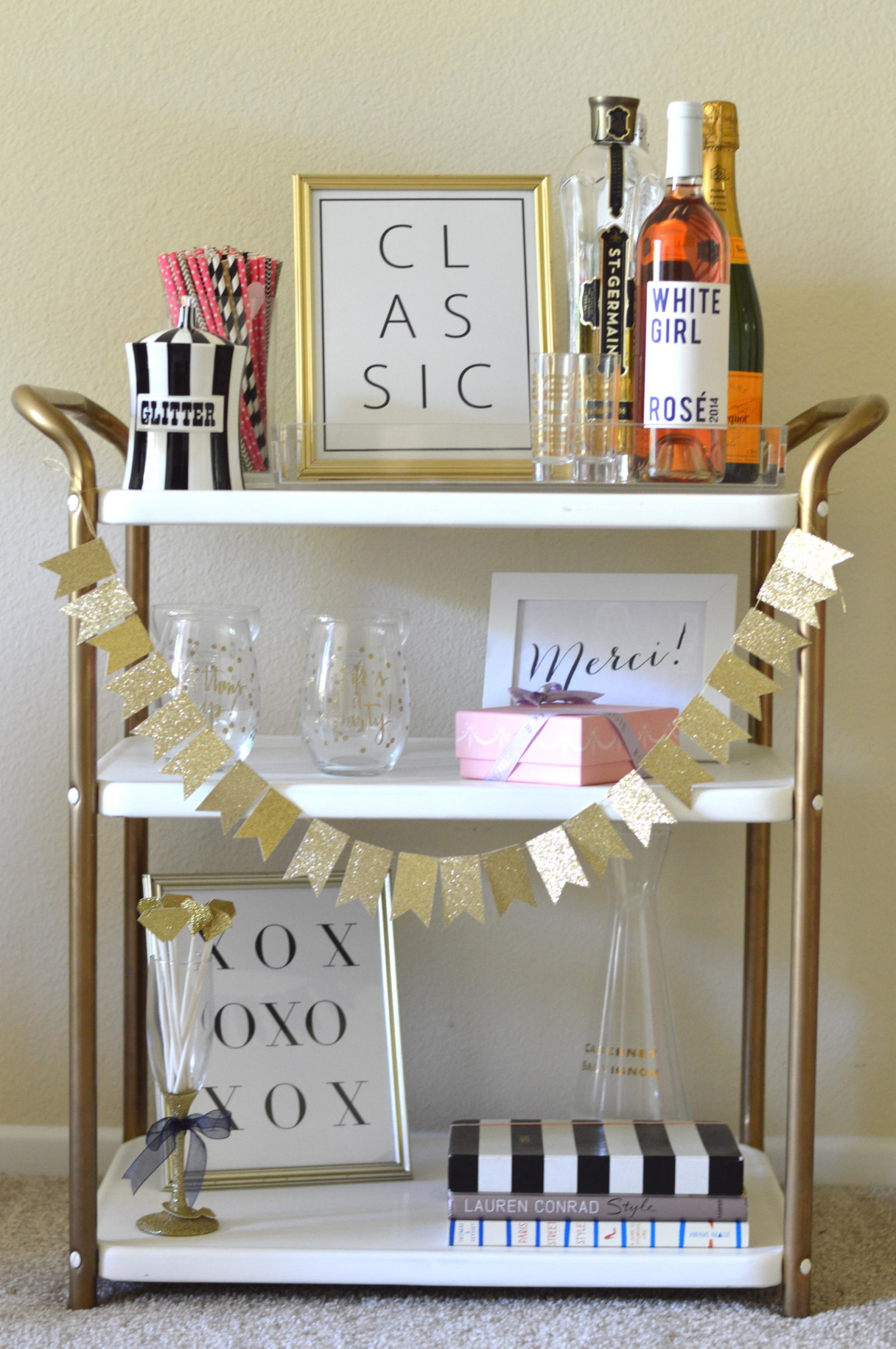 Styling a Bar Cart