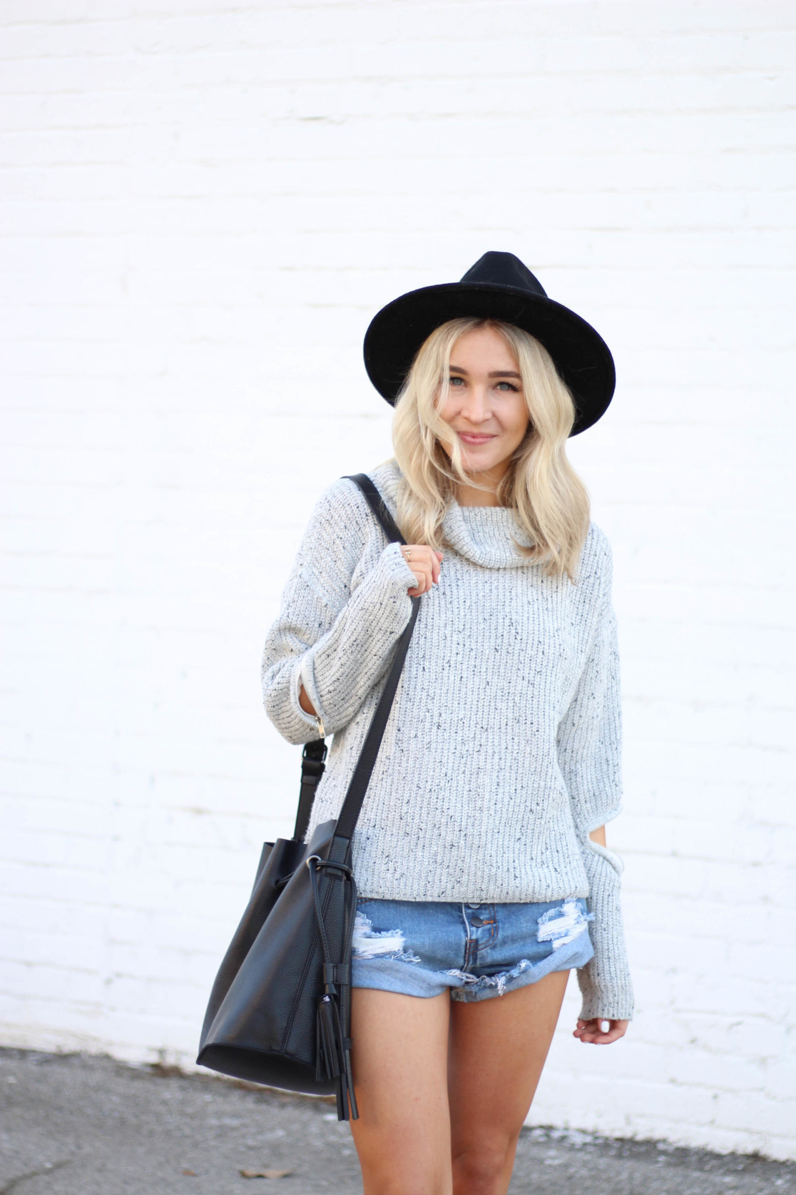open zip sweater