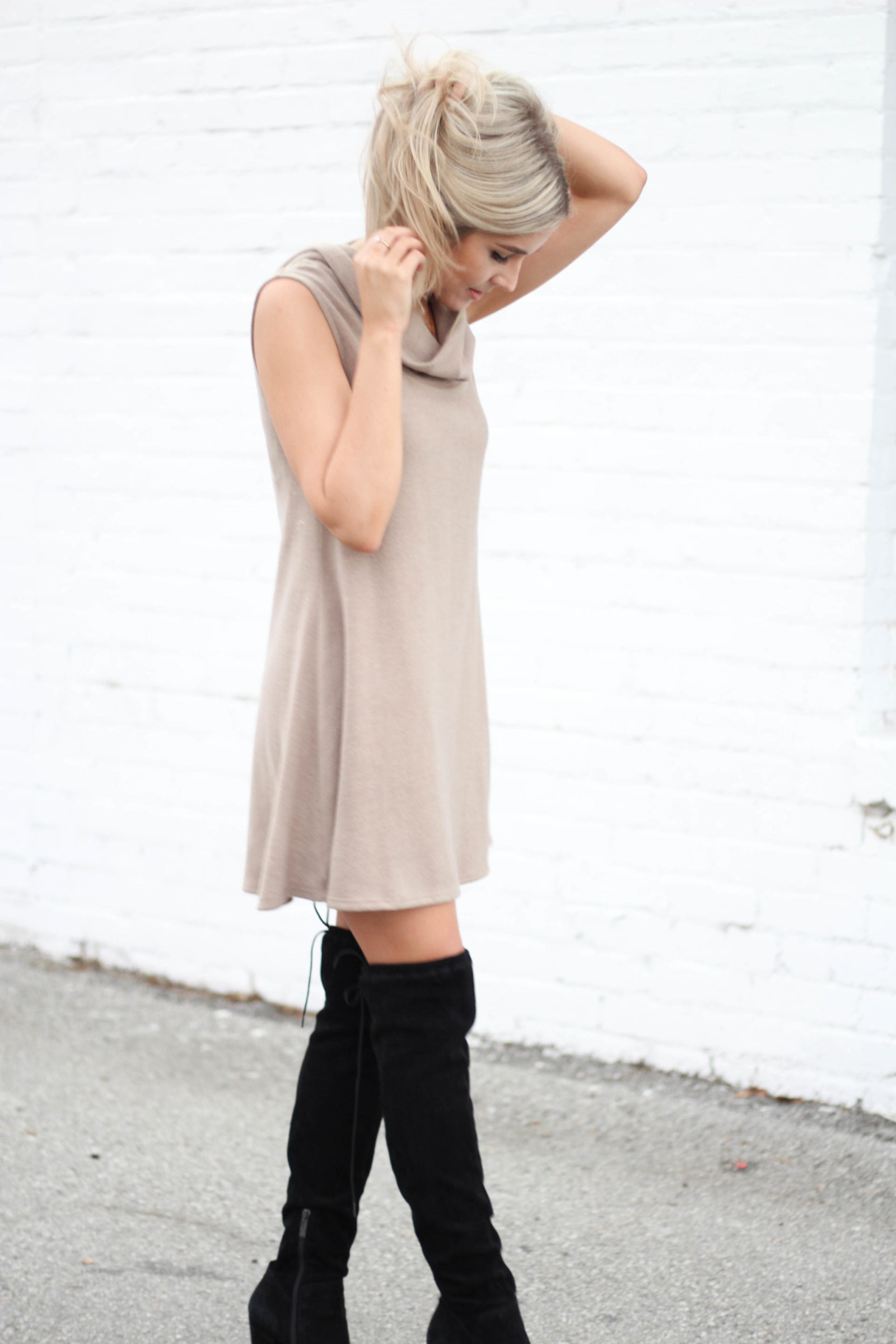 black over the knee boots