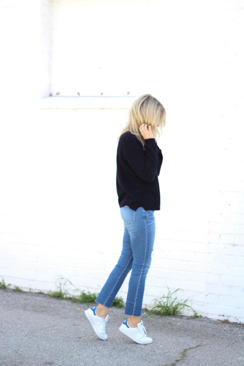 Grey Jeans Fashion Blog Straight Leg