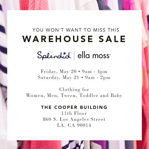 sample sale warehouse