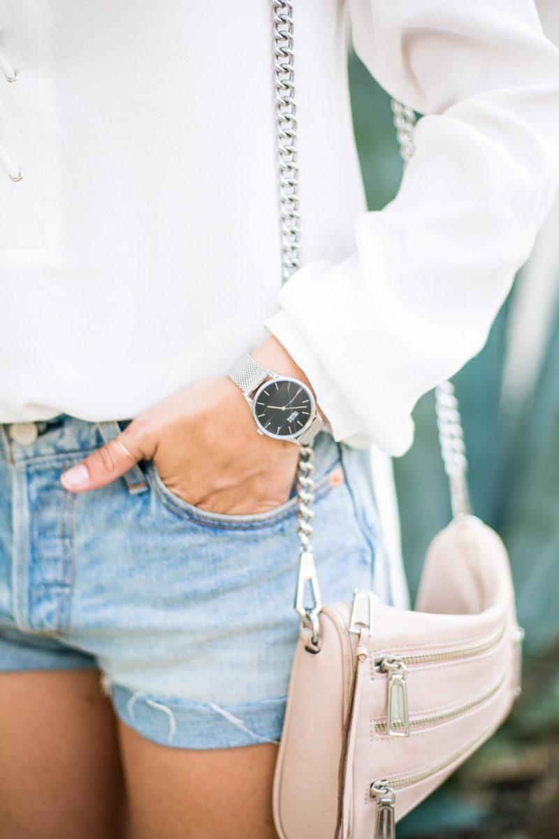 Nicole Vienna black marble watch