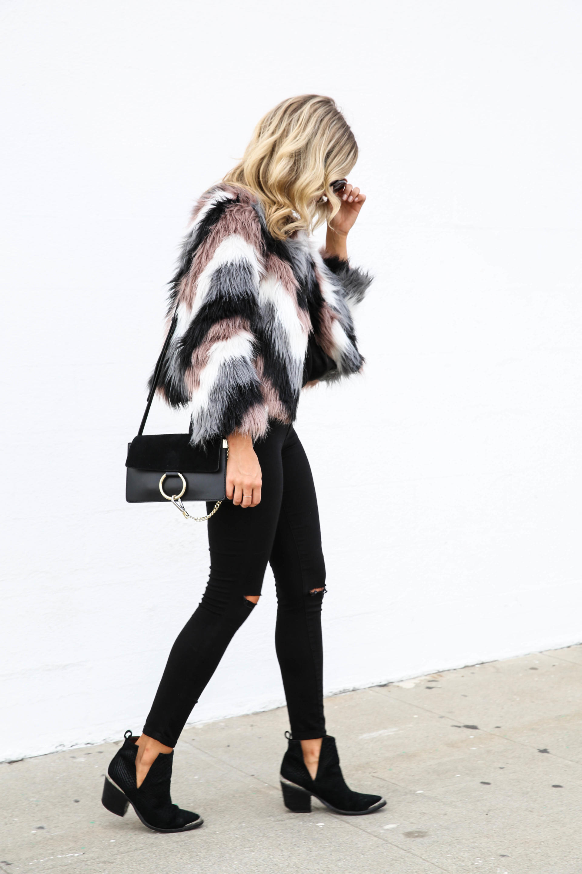 Chevron Faux Fur Jacket | Blonde Collective | a lifestyle blog by Ashley Guyatt