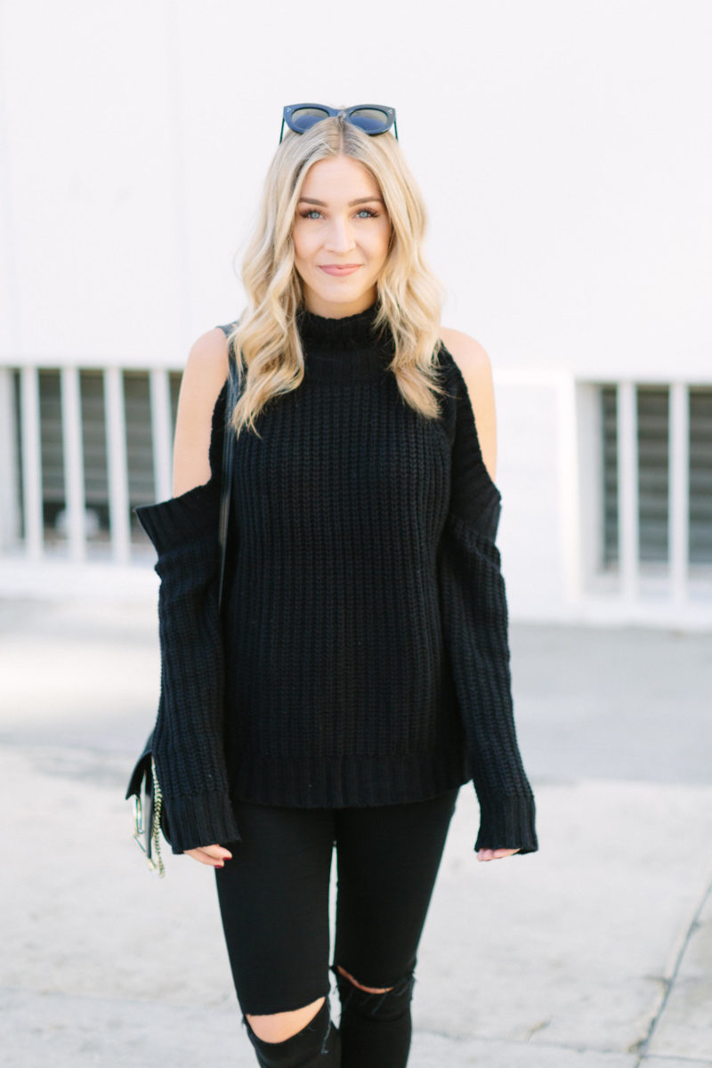 all black everything the outfit and the sales blonde collective life style blog by ashley. Black Bedroom Furniture Sets. Home Design Ideas