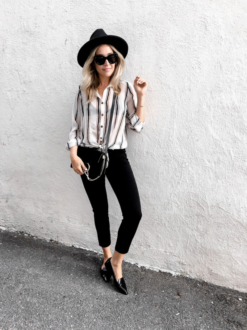 how to wear black cropped jeans