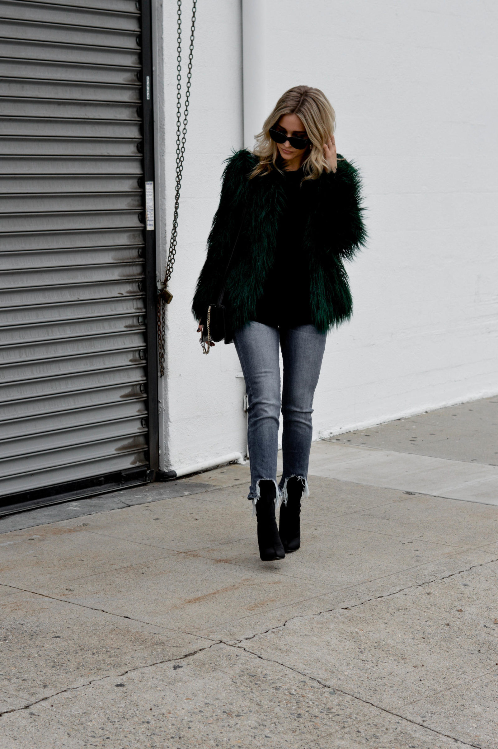 An Easy Way to Style a Faux Fur Coat