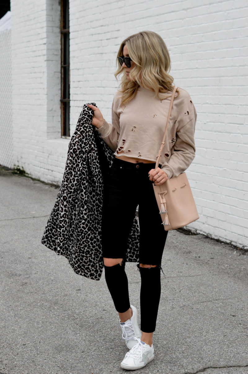 what to wear with a leopard print jacket