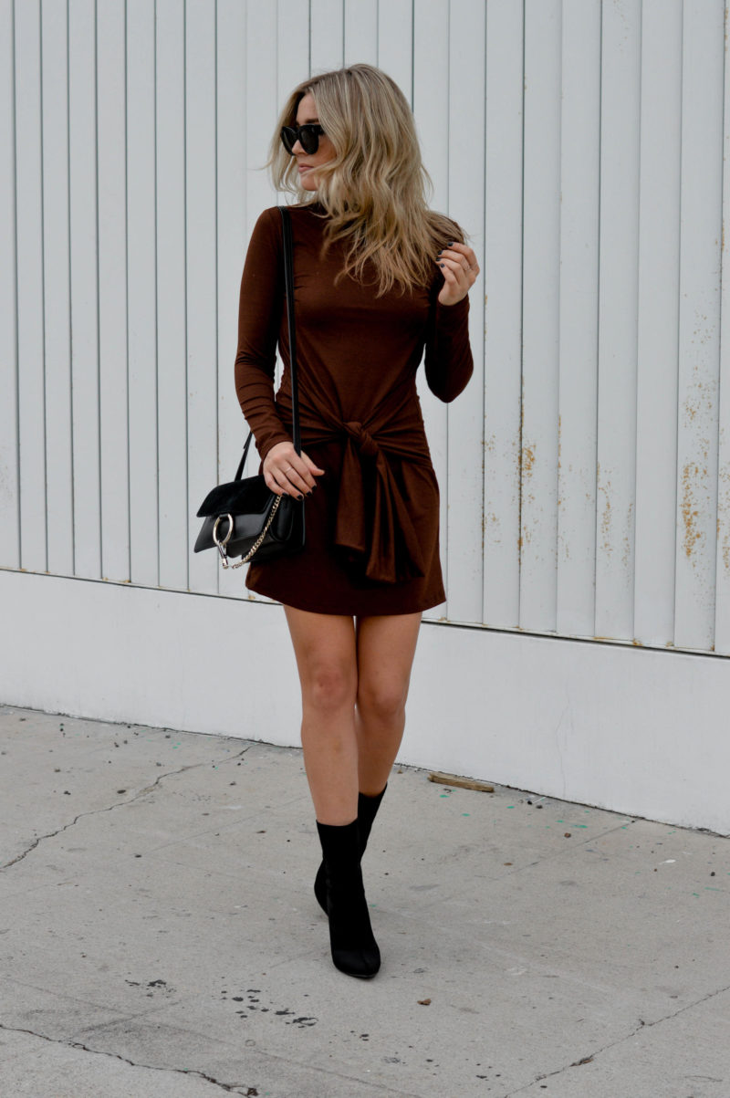 rust colored dress for fall