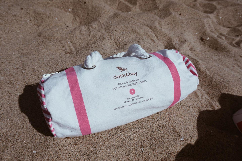 pink circle towel