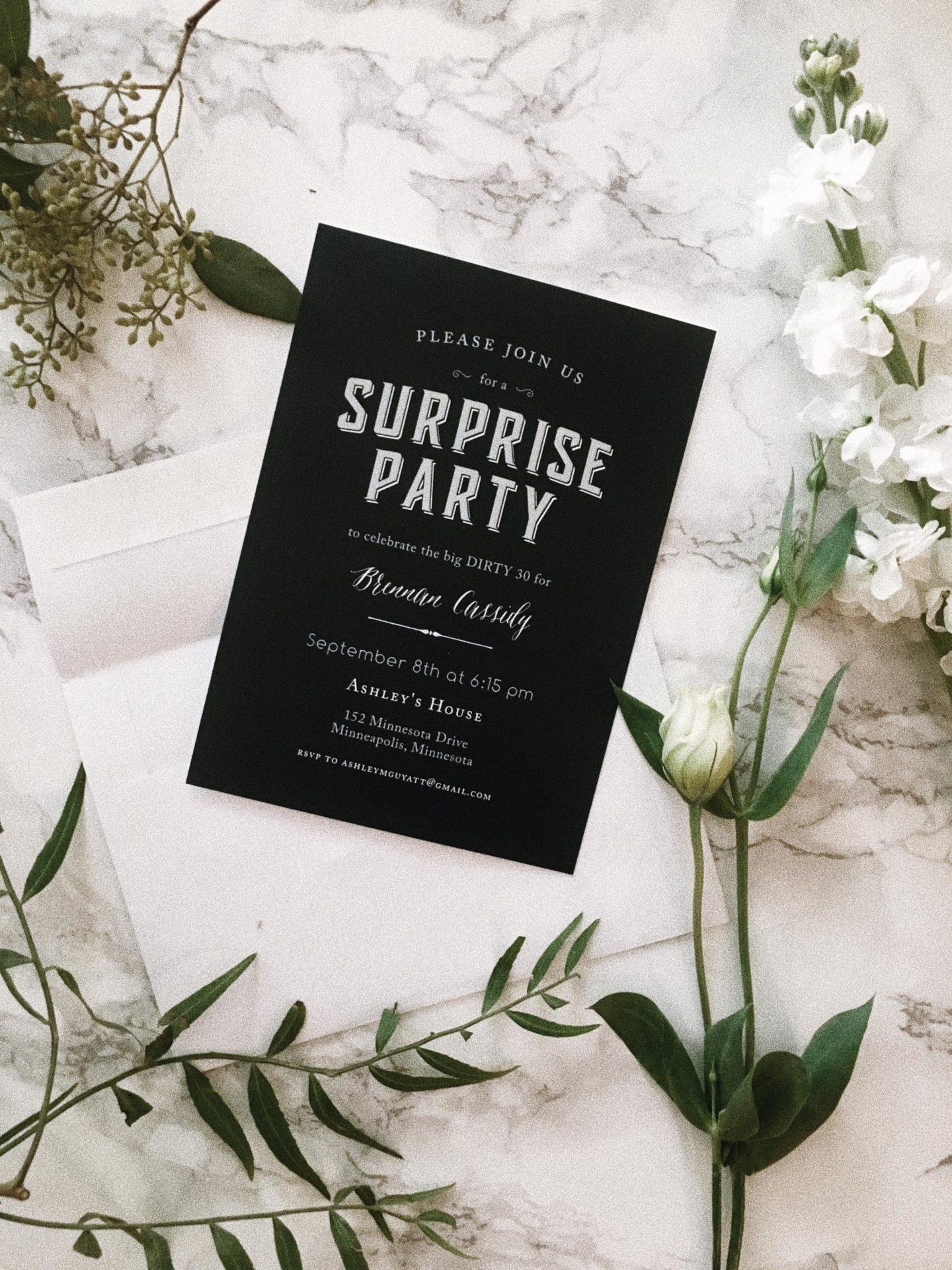party invitation layout