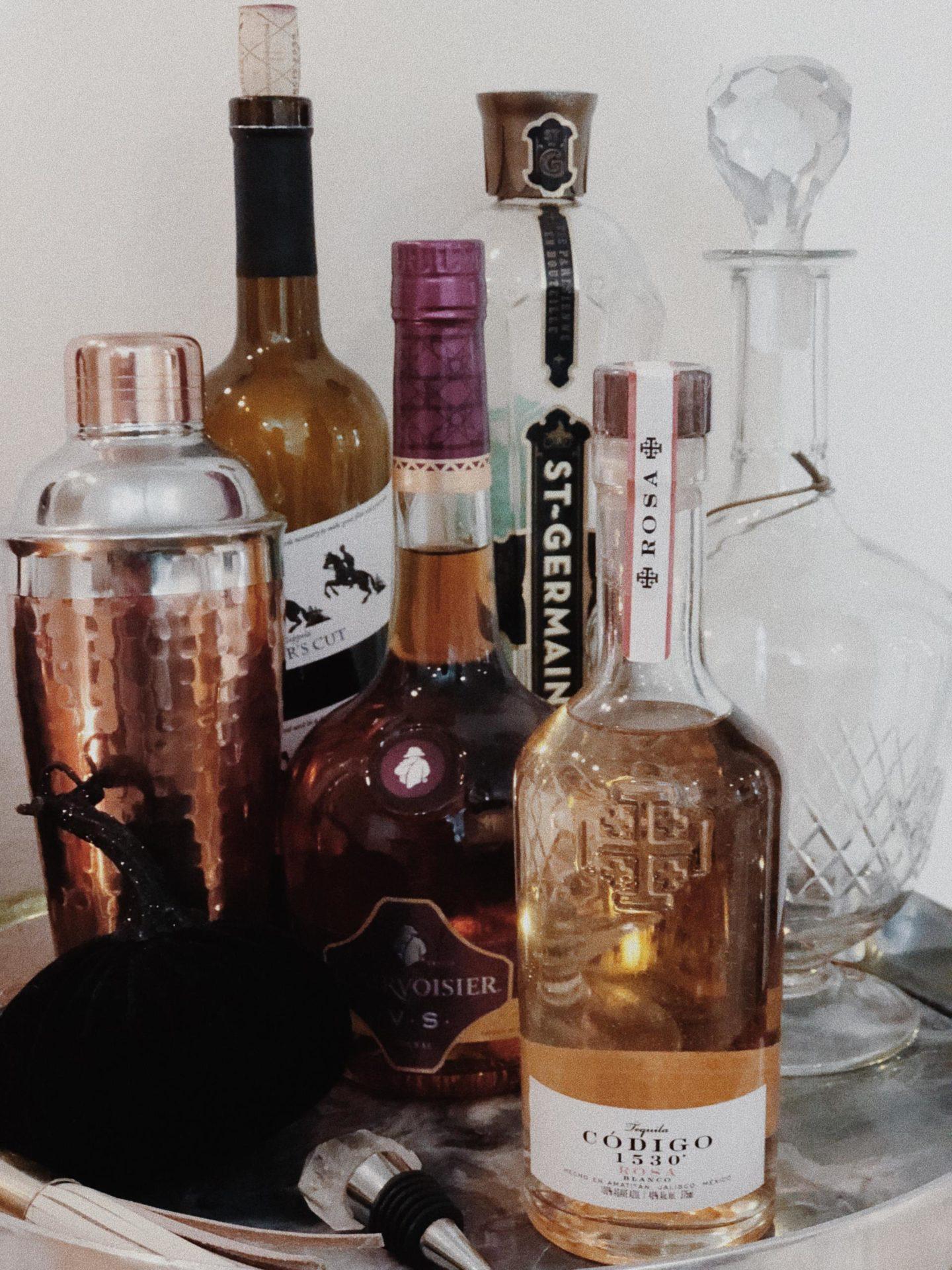 cute alcohol for bar cart